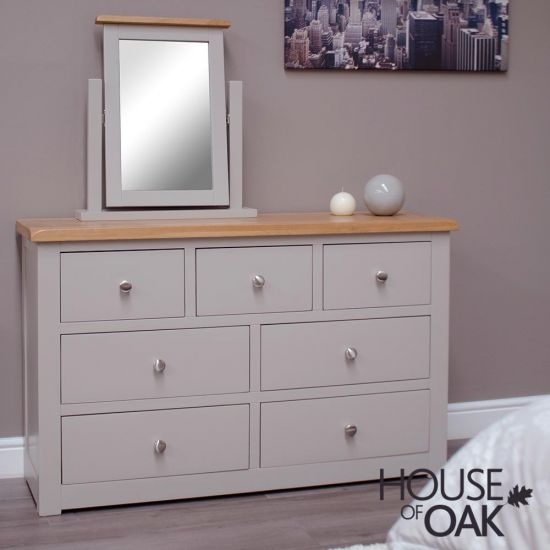 Diamond Grey Wide Chest of Drawers