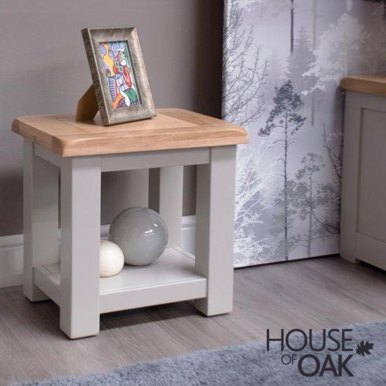 Diamond Grey Lamp Table