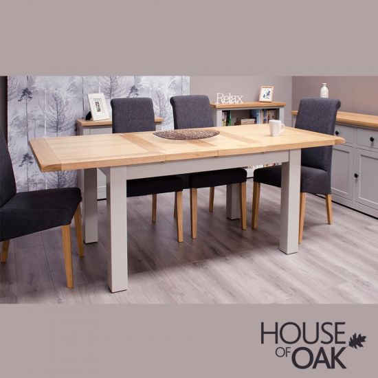 Diamond Grey Medium Extending Dining Table