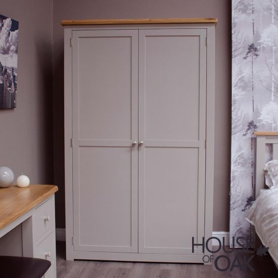Diamond Grey All Hanging Double Wardrobe