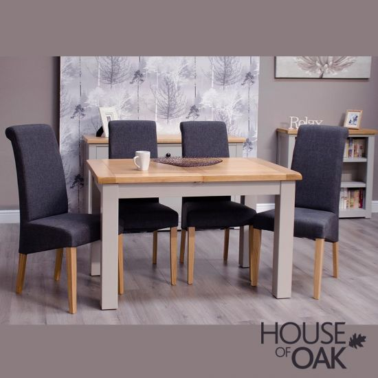 Diamond Grey Small Extending Dining Table