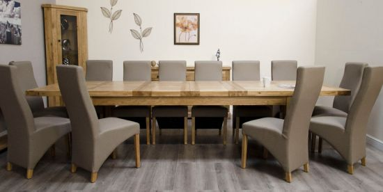 Chatsworth Oak 240cm Extending Dining Table