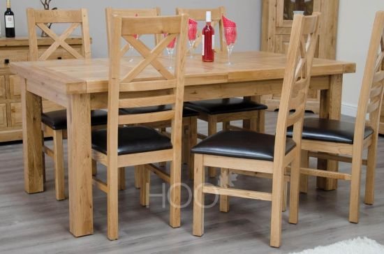 Deluxe Oak 180cm Extending Table