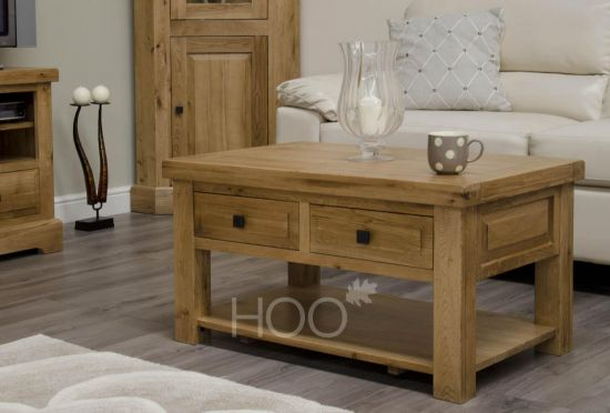 Deluxe Oak Coffee Table