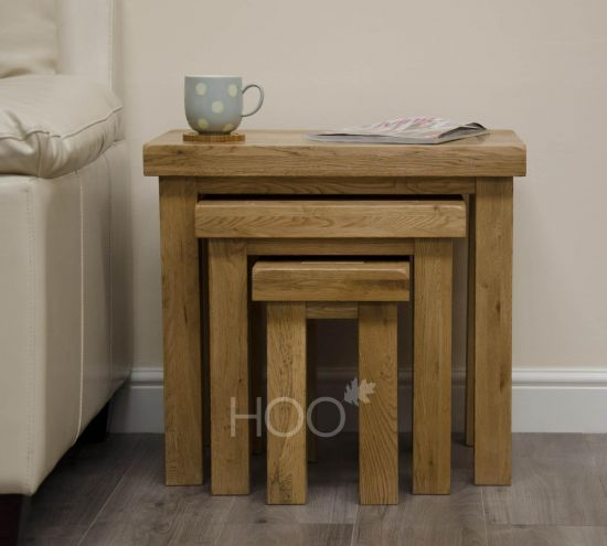 Deluxe Oak Nest of Tables