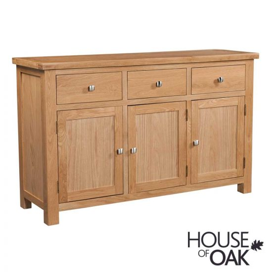 Keswick Oak 3 Door 3 Drawer Sideboard