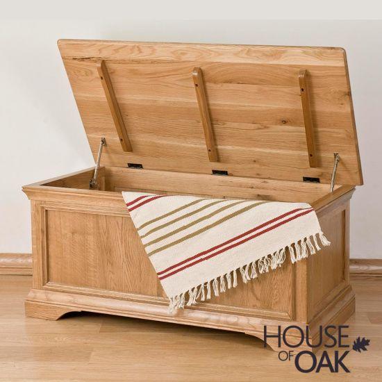 Paris Solid Oak Blanket Box