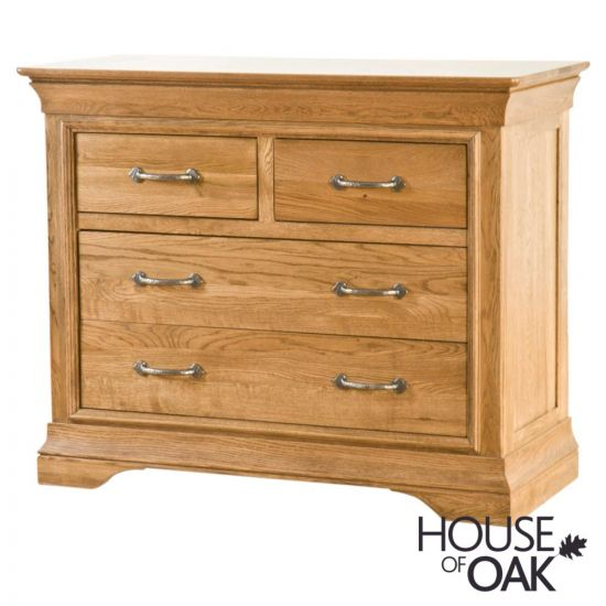Paris Solid Oak 2 Over 2 Chest of Drawers