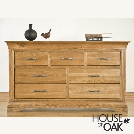 Paris Solid Oak 3 Over 4 Chest of Drawers