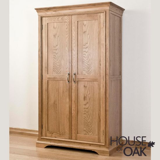 Paris Solid Oak Full Hanging Wardrobe
