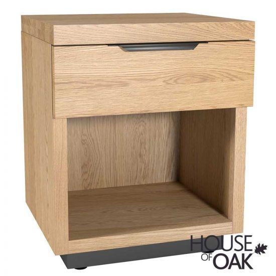 Harmony Oak 1 Drawer Bedside Cabinet