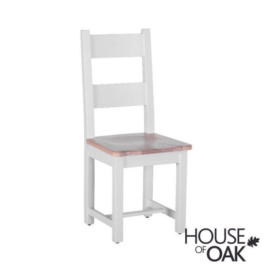 New Hampshire Chalked Oak & Light Grey Dining Chair