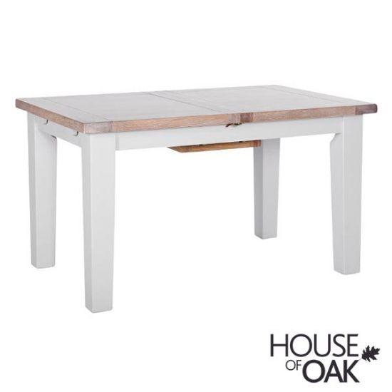 New Hampshire Chalked Oak & Light Grey 140cm Extending Table