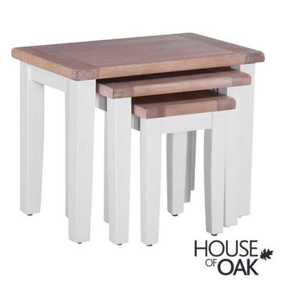 New Hampshire Chalked Oak & Light Grey Nest of Tables