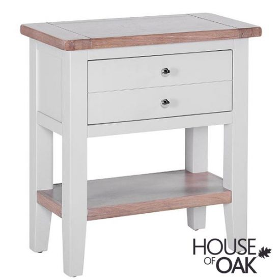 New Hampshire Chalked Oak & Light Grey Console Table