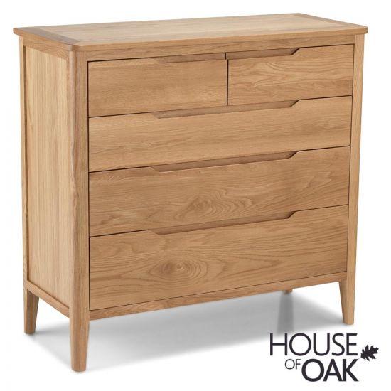 Copenhagen Oak 2 Over 3 Chest of Drawers