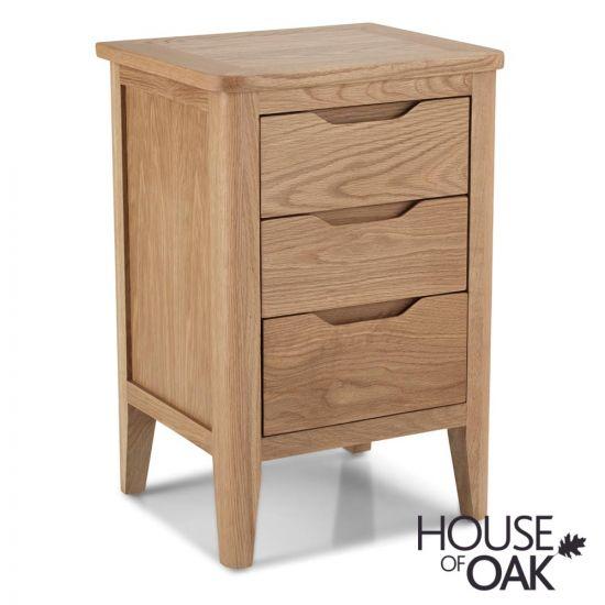 Copenhagen Oak 3 Drawer Bedside Cabinet