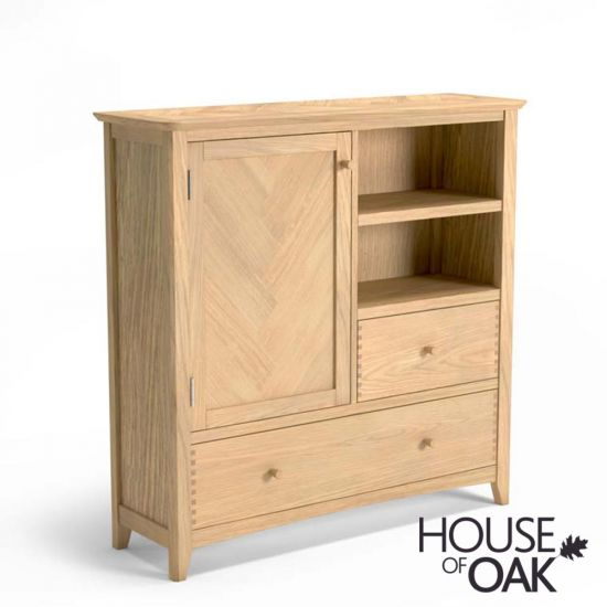 Malmo Oak Large Drinks Cabinet