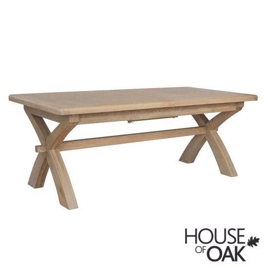 Chatsworth Oak 2 Metre Cross Leg Dining Table