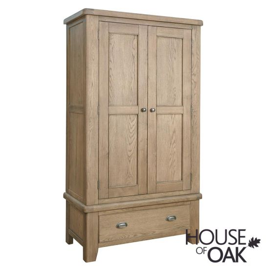 Chatsworth Oak 2 Door Wardrobe