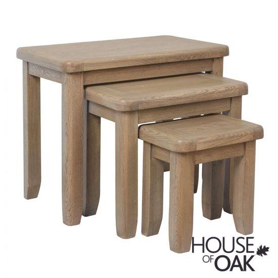 Chatsworth Oak Nest of Tables