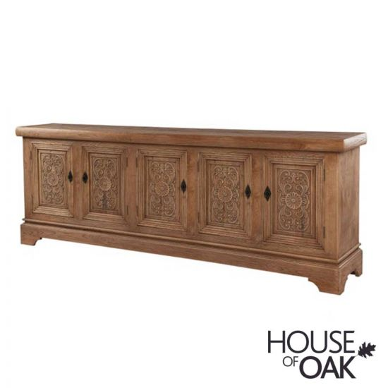 Hudson Bay Reclaimed Elm 5 Door Sideboard