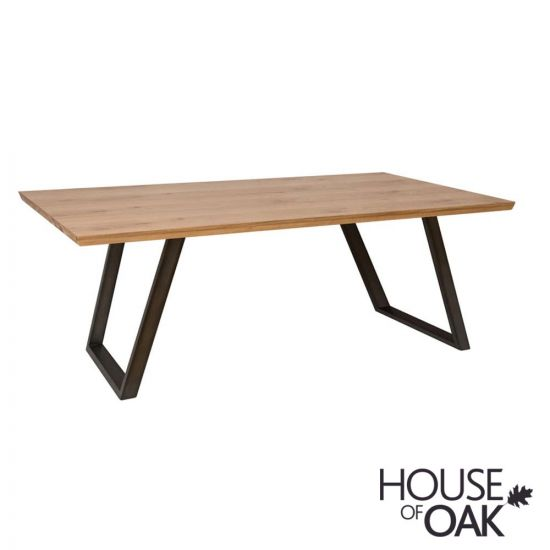 Forged Oak 180cm Dining Table