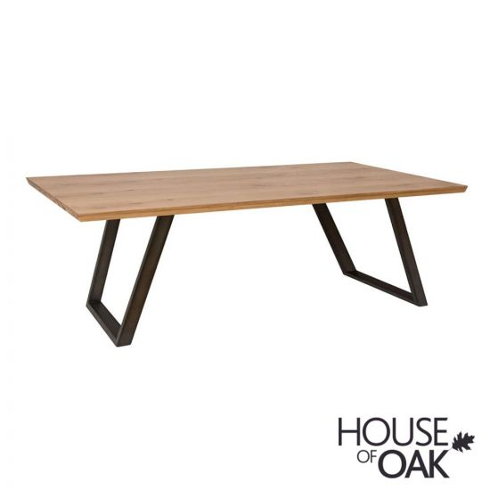 Forged Oak 220cm Dining Table