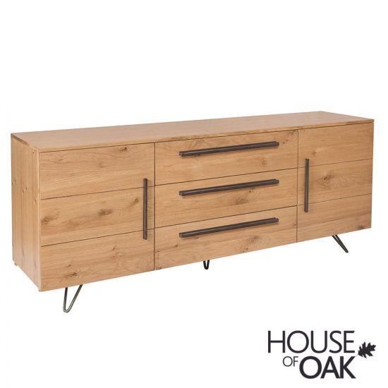 Forged Oak 2 Door 3 Drawer Sideboard
