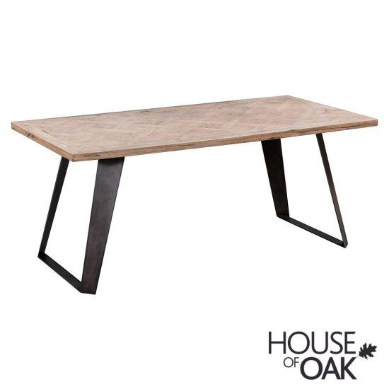 Parquet Oak 220cm Dining Table