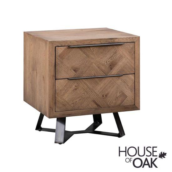 Parquet Oak Bedside Cabinet