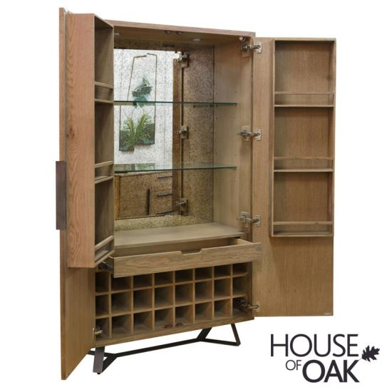Parquet Oak Wine Cabinet