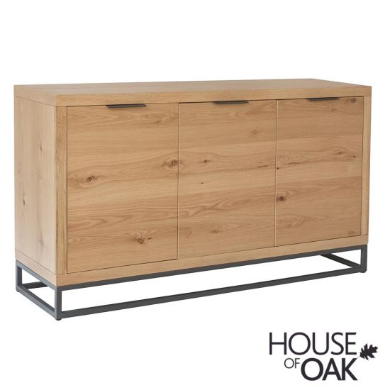 Fusion Oak 3 Door Sideboard