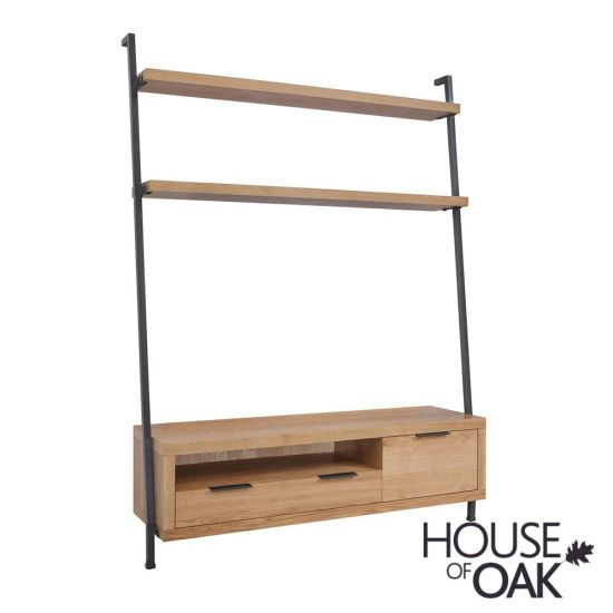 Fusion Oak TV Bookcase