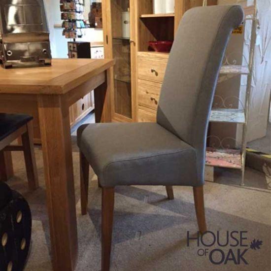 Italia Chair in a Light Grey Fabric