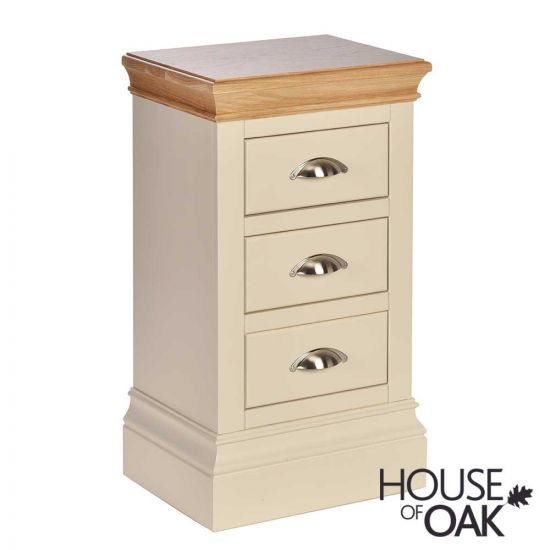 Ambleside 3 Drawer Compact Bedside Cabinet in Ivory