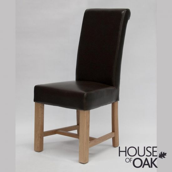 Louisa Brown Bycast Leather Dining Chair