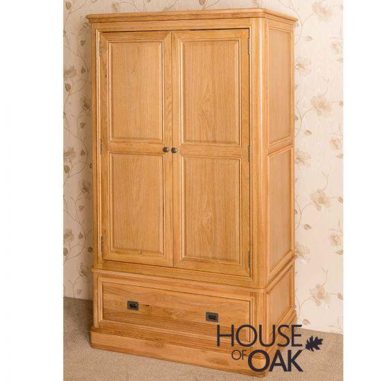 Lyon Oak Double Wardrobe