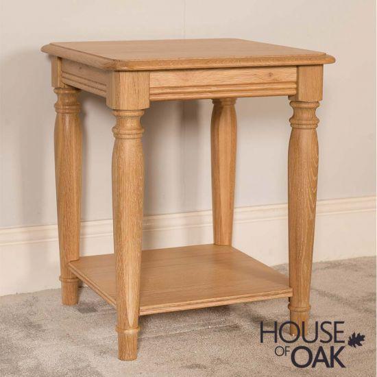 Lyon Oak Lamp Table
