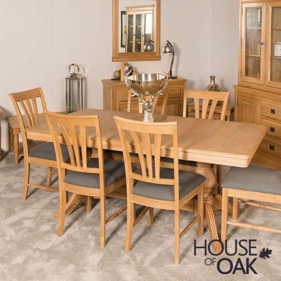 Lyon Oak Large Extending Table