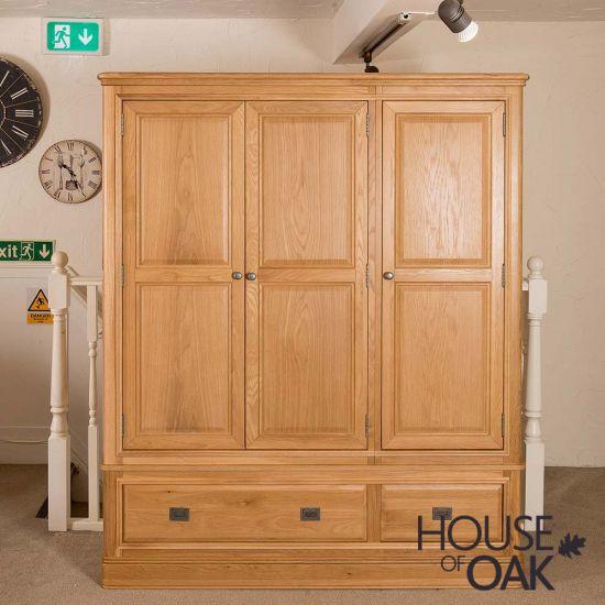 Lyon Oak Triple Wardrobe