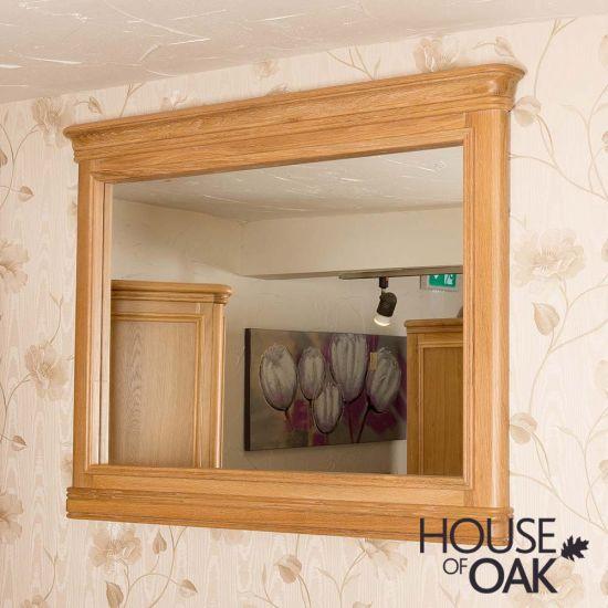 Lyon Oak Wall Mirror Horizontal
