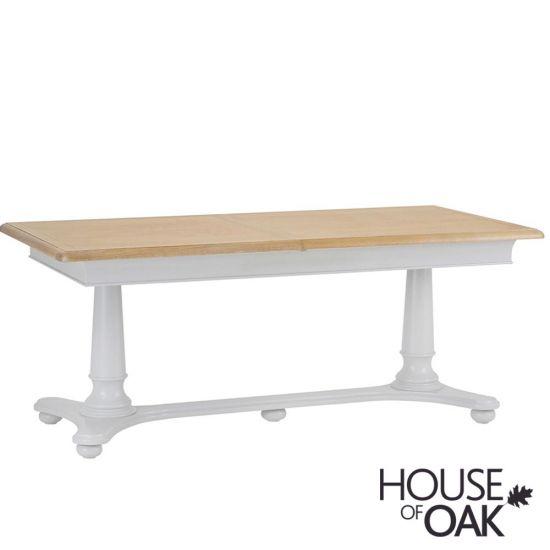 Chelsea Grey 210cm Twin Pedestal Extending Table