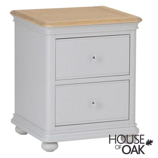 Chelsea Grey 2 Drawer Bedside Cabinet