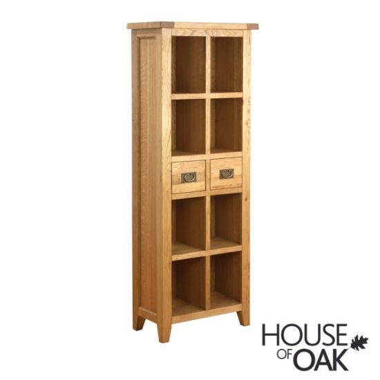 New Hampshire Oak 2 Drawer Bookcase