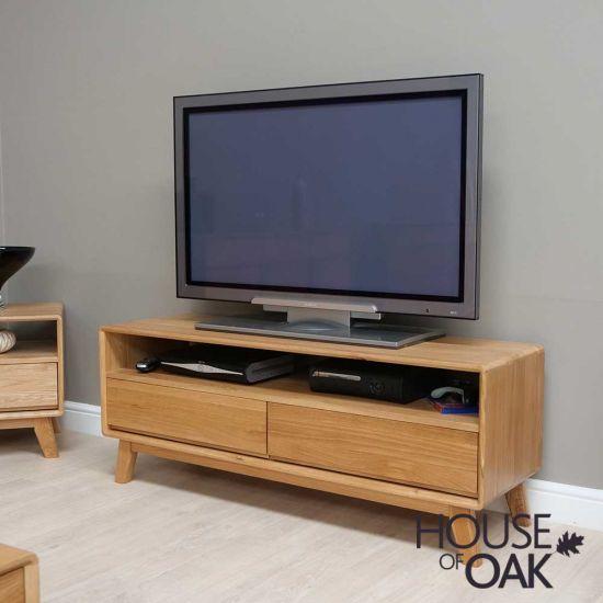 Eden Solid Oak Medium TV Cabinet