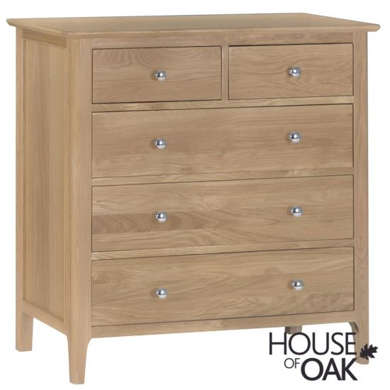 Oslo Oak 3+2 Drawer Chest
