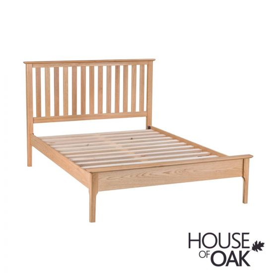 "Oslo Oak 4FT 6"" Double Bed"