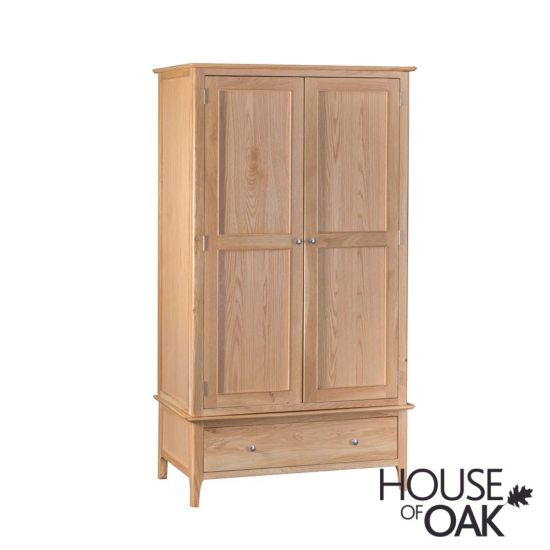 Oslo Oak Large 2 Door 1 Drawer Wardrobe