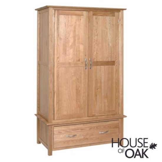 Coniston Oak Double Wardrobe with Drawer